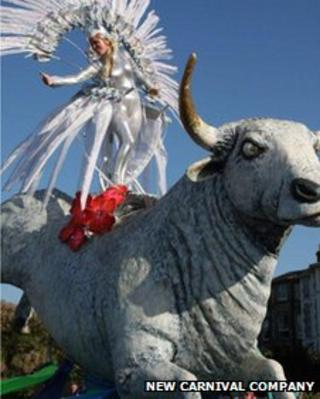 Zeus the Isle of Wight Carnival bull