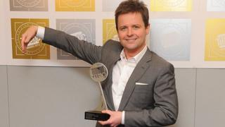 Declan Donnelly with his Tric award