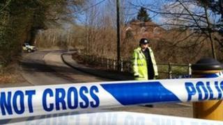 Selborne police cordon