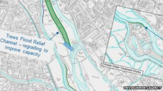 Exeter flood defence plans. Pic: Environment Agency