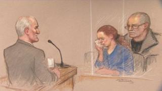 Michael Philpott, Mairead Philpott and Paul Mosley in court
