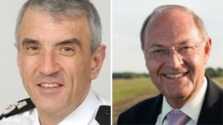 Chief Constable Neil Rhodes andPolice and Crime Commissioner Alan Hardwick