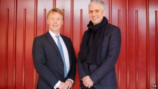 Managing Director of the Folio Society Toby Hartwell (left) and Founder of the Folio Prize Andrew Kidd at a photocall announcing the Folio Society as new sponsors of the Literature Prize