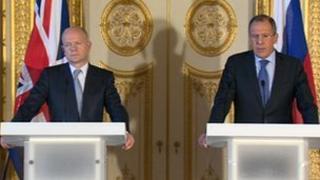 William Hague and Sergei Lavrov