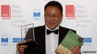 Tan Twan Eng with his Man Asian Literary Prize