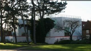 West Bridgford Library from Bridgford Park