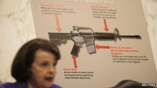 Dianne Feinstein explains the dangers of automatic assault weapons during the Senate Judiciary Committee hearing on the Assault Weapons Ban of 2013 27 February 2013