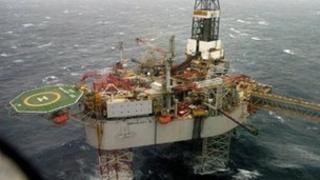 Buzzard oil platform