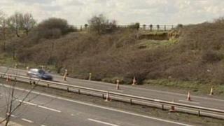 A12 landslip
