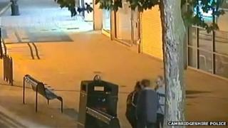 CCTV of Nigel Clarke with Stella McNulty and Erika Butkeviciene