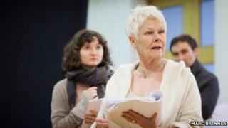 Judi Dench in rehearsals for Peter and Alice