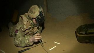 Inside the caves at The Defence Explosive ordnance disposal, Munitions and Search Training Regiment