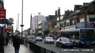 York Road in Hartlepool