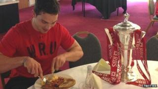 George North and the Six Nations trophy