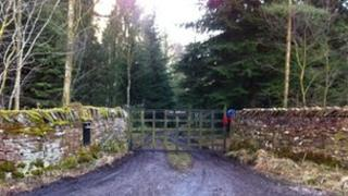 Gate leading to the house