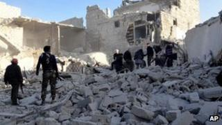 Syrian rebels in city of Aleppo
