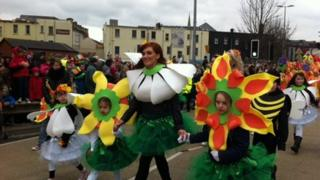 The parade in Londonderry was a colourful spectacle