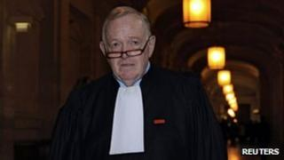 Olivier Metzner at the Paris courts on 23 November 2011.