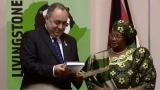 First Minister Alex Salmond welcomed Dr Joyce Banda to Blantyre