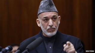 Afghan President Hamid Karzai. Photo: March 2013