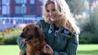 Blue Peter's Helen Skelton and Barney the dog
