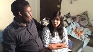Sambo Davis and his wife Sheeba Rani