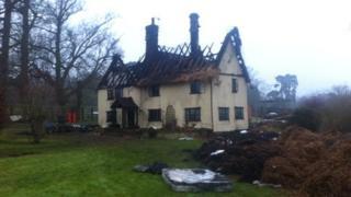 Fire scene in Thurston