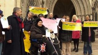 Barnet residents outside the Royal Courts of Justice