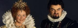 Rowan Atkinson as Edmund Blackadder and Miranda Richardson as Queen Elizabeth I