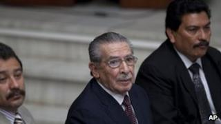 Former Guatemalan ruler Efrain Rios Montt
