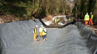 Work on the Monmouthshire and Brecon Canal