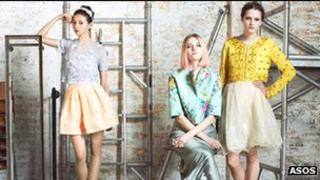 Models wearing fashions