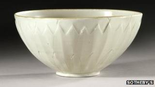 Rare Chinese bowl bought for $3 sells for $2.2m at a Sotheby's auction in New York
