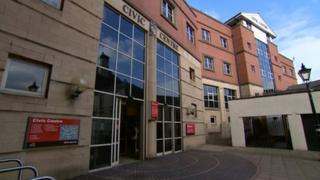 Civic centre in Stoke