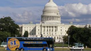 Megabus coach operating in US