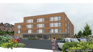 Artist's impression of the Newton Abbot extra care housing scheme