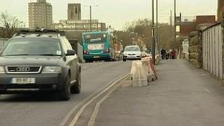 London Road Bridge in Derby