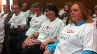 Stop Dorcas Lane Wind Farm protesters