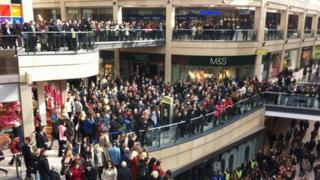 Shoppers at Leeds Trinity