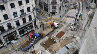 Repairmen in Regent Street