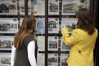 estate agents' window