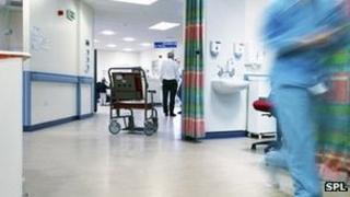 A hospital emergencies department