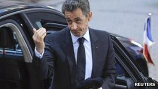 File photo of Nicolas Sarkozy (26 October 2011)