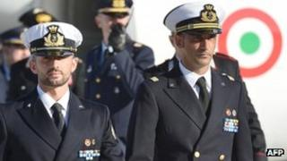 Massimiliano Latorre (R) and Salvatore Girone had returned to Italy before Christmas