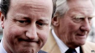 David Cameron and Lord Heseltine