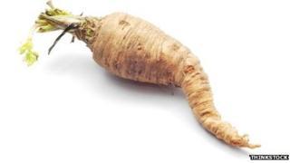 Misshapen parsnip