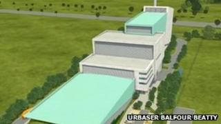 An artists' impression of the proposed incinerator