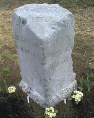 Holker Upper parish boundary stone