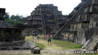 Tajin World Heritage site in Papantla, Mexico