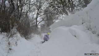 Snow near Clee Hill, Shropshire